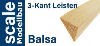 Balsa 3-Kant Leisten