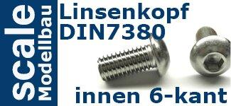DIN 7380 Linsenkopf Innensechskant