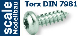 DIN 7981 Zylinderkopf Torx