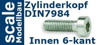 DIN 7984 Zylinderkopf niedrig Innensechskant