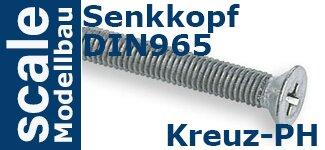 DIN 965 Senkkopf Kreuz PH