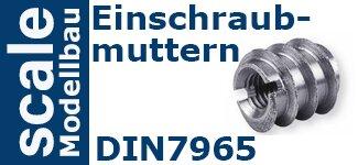 DIN 7965 Einschraubmuttern