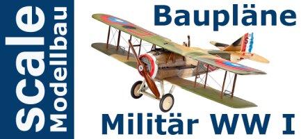 Baupläne Militärflugzeuge WW I