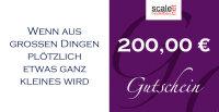 Geschenkgutschein Wert 200,00 €