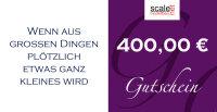 Geschenkgutschein Wert 400,00 €