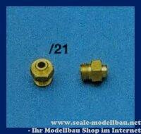 Aeronaut Nippel/Überwurfmutter 7 mm VE 2 Stk