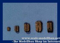 Aeronaut Klumpblock (Holz) dunkel 1 Rille 10 mm VE 20 S