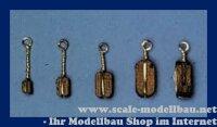 Aeronaut Klumpblock (Holz) dunkel 1 Rille 5 mm VE 20 St