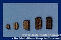 Aeronaut Klumpblock (Holz) dunkel 2 Rillen 7 mm VE 20 S