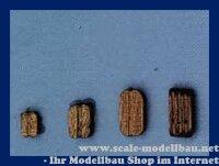 Aeronaut Klumpblock (Holz) dunkel 3 Rillen 10 mm VE 20