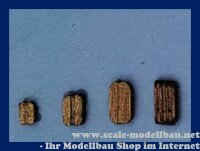 Aeronaut Klumpblock (Holz) dunkel 3 Rillen 5 mm VE 20 S