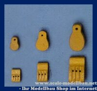Aeronaut (5244/24) Violinblock (Holz) 3 Rillen VE 10 Stk...