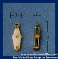 Aeronaut (5239/00) Violinblock mit 1 Rolle (vernickelt)...