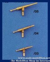 Aeronaut (6264/04) Drehbasse (Metall) 19x24 mm VE 4 Stk