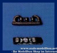 Aeronaut Lippe (Metall) mit 3 Pollern 13 mm VE 2 Stk