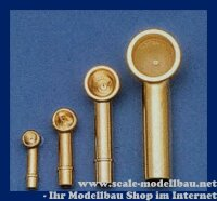 Aeronaut Lüfter (Metall, vergoldet) 5x13 mm VE 2 Stk