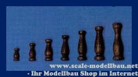 Aeronaut Geländerstütze (Holz) dunkel 12 mm VE...
