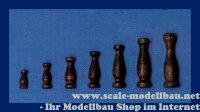 Aeronaut Geländerstütze (Holz) dunkel 16 mm VE...