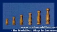 Aeronaut Geländerstütze (Holz) hell 16 mm VE 10...