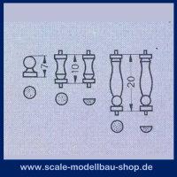 Aeronaut Geländerstützen (Plastik) 7,10,20 1 Set