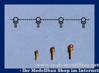 Aeronaut Handlaufdurchzug (Ms) 2,5 mm VE 20 Stk