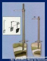 Aeronaut Rudergarnitur (Metall vernickelt) 40/30/120 VE