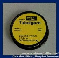 Aeronaut Spezial Takelgarn 0,3 mm / 20 m VE 1 Rolle