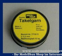 Aeronaut Spezial Takelgarn 0,5 mm / 20 m VE 1 Rolle