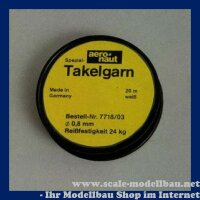 Aeronaut Spezial Takelgarn 0,8 mm / 20 m VE 1 Rolle