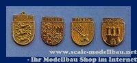 Aeronaut Wappen (Tombak) Bayern 19x23 mm VE 2 Stk