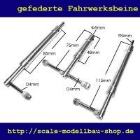 ScaleMod gefederte Fahrwerksbeine 3-Bein Kit 115/75 mm