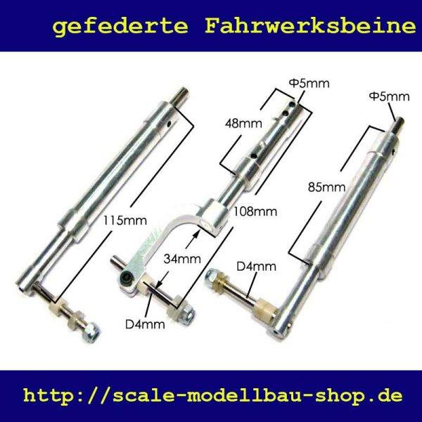 ScaleMod gefederte Fahrwerksbeine 3-Bein Kit 115/108 mm