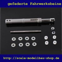 ScaleMod gefedertes Fahrwerksbein Doppelbereifung 110 mm