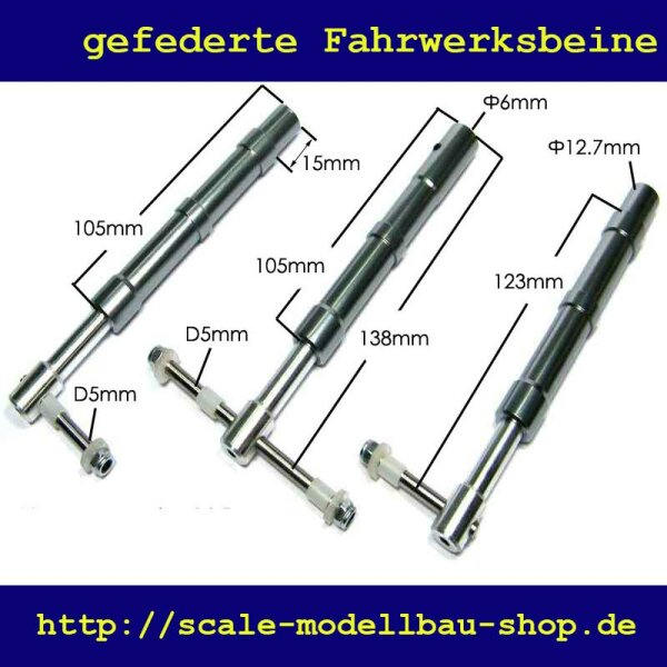 ScaleMod gefederte Fahrwerksbeine 3-Bein Kit 138/123 mm
