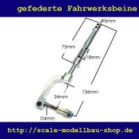 ScaleMod gefedertes Fahrwerksbein 136 mm