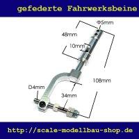 ScaleMod gefedertes Fahrwerksbein 108 mm