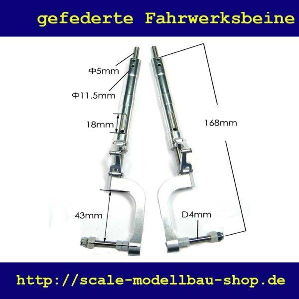 ScaleMod gefederte Fahrwerksbeine Zero 2-Bein Kit 168 mm