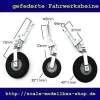 ScaleMod gefederte Fahrwerksbeine 3-Bein Kit 70/75  mm