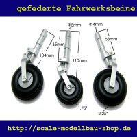 ScaleMod gefederte Fahrwerksbeine 3-Bein Kit 108/100  mm