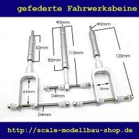 ScaleMod gefederte Fahrwerksbeine 3-Bein Kit 125/115 mm