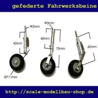ScaleMod gefederte Fahrwerksbeine 3-Bein Kit 70/60 mm