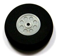 ScaleModMod Rad mit Moosgummi Reifen D35x15 mm 2mm Achse