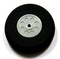 ScaleModMod Rad mit Moosgummi Reifen D40x15 mm 2mm Achse