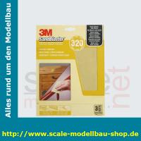 3M SandBlaster Hochleistungsschleifpapier fein P320