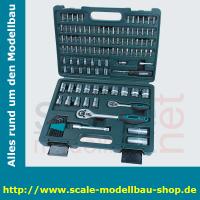 "BM Steckschlüsselsatz 1/2"" + 1/4"", 115-teilig"