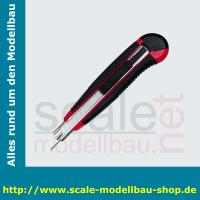 WEDO Profi-Cutter Auto-Load, Klinge: 9 mm, schwarz/rot