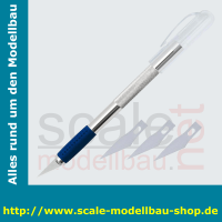WEDO Skalpell, Länge: 150 mm, inkl. 3 Ersatzklingen