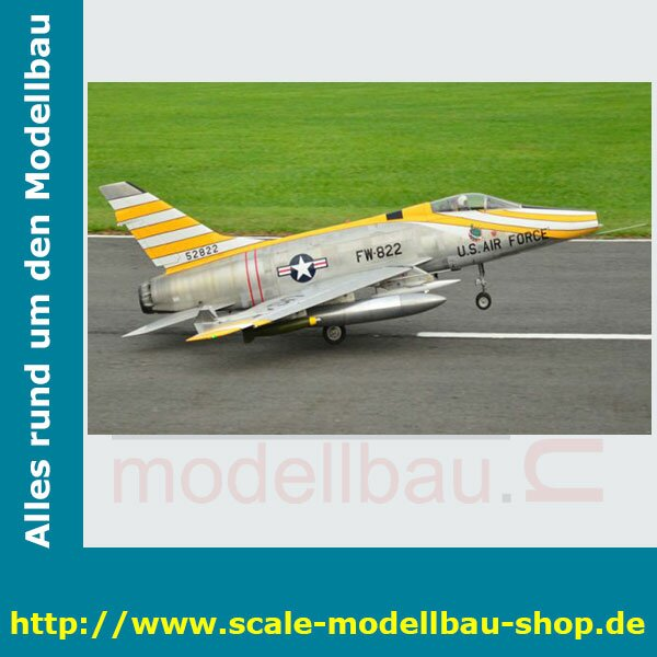 Bauplan North American F-100 Sabre Spannweite ca.1423 mm
