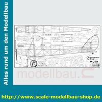 Bauplan de Havilland D.H.60G Gipsy Moth Spannweite ca....