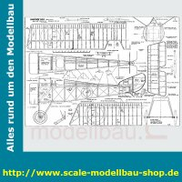 Bauplan Hanriot HD.1 Spannweite ca. 1422 mm